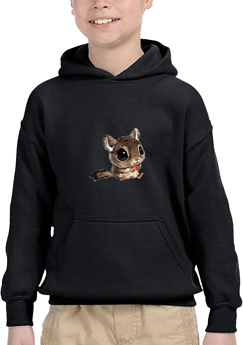 Sakanpo Cute Big Eyes Squirrel Pullover Hoodie Sweatshirt Teens Hooded for Boys Girls