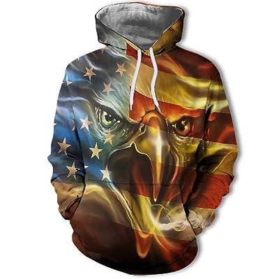 933 Unisex Color Eagle Flag 3D impresión Digital Hombre suéter, Sudadera con Capucha Sudadera, Burst, 2XL: Ropa y accesorios
