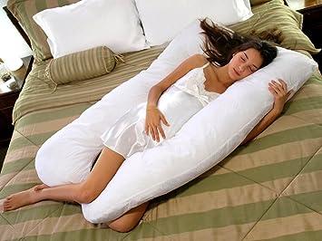 Amazon.com: Comfy forma de U comodidad extra Embarazo Pillow ...
