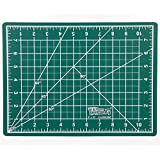 "US Art Supply 9"" x 12"" GREEN/BLACK Professional Self Healing 5-Ply Double Sided Durable Non-Slip PVC Cutting Mat Great for Scrapbooking, Quilting, Sewing and all Arts & Crafts Projects"