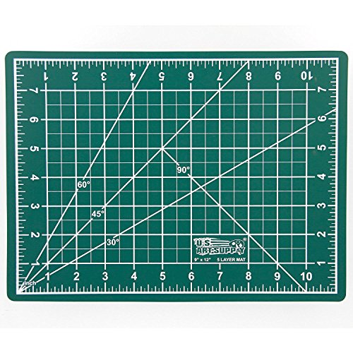"""9"""" x 12"""" GREEN/BLACK Self Healing 5-Ply Double Sided Durable"""