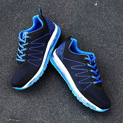 Sneakers Fitness Running Interior blu 1 all'Aperto Basse Corsa ASHION Uomo da Ginnastica Air Scarpe Sportive Casual fxTqw8YSHY