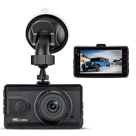 Dash Cam 1080P FHD Car Dash Camera 3 inch Dashboard Camera with Night Vision, 170 Wide Angle, Parking Monitor, Loop Recording