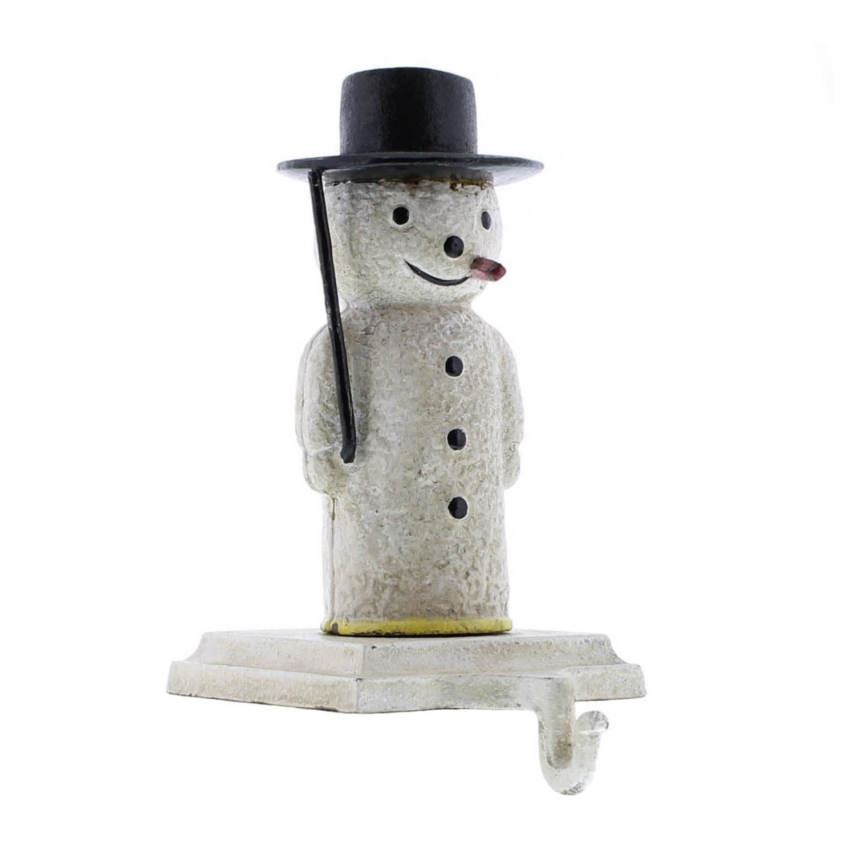 HomArt Snowman Stocking Holder - Cast Iron (Set of 6)