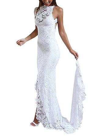 Dressesonline Women\'s Lace Mermaid Wedding Dresses 2018 Beach Boho ...