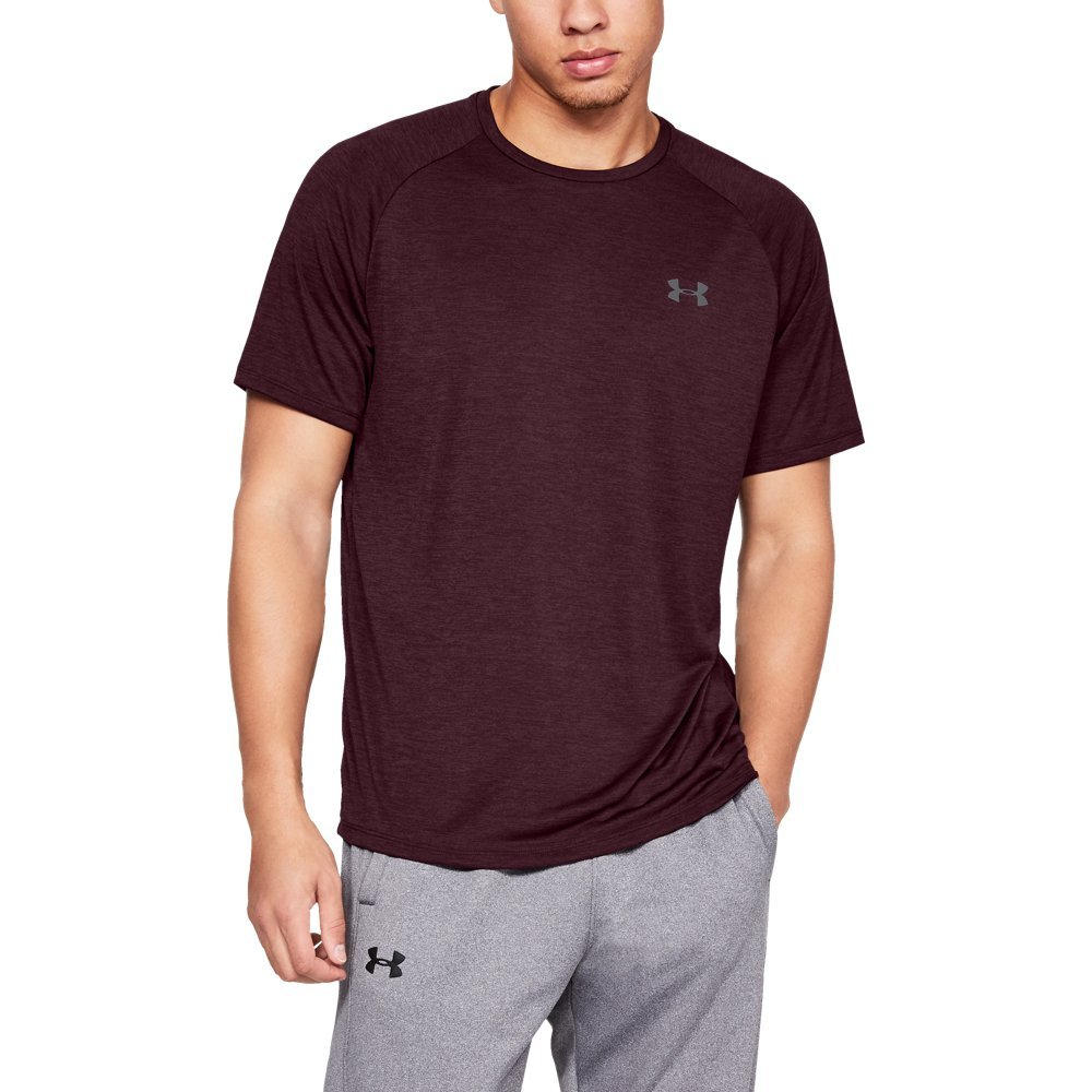 Under Armour mens Tech 2.0 Short Sleeve T-Shirt, Dark Maroon (601)/Graphite, Large by Under Armour