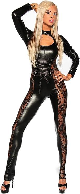 Club Nocturno Sexy Mono de Wetlook Disfraz Catwoman Leopardo ...