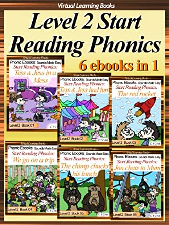 Amazon.com: Level 2 Start Reading Phonics Books 01-06 (6 ebooks in 1) Collection (Childrens