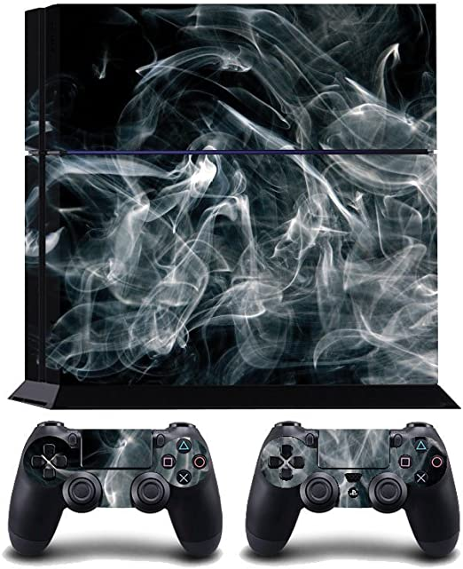Curling Smoke Print PS4 PlayStation 4 Vinyl Wrap / Skin / Cover ...