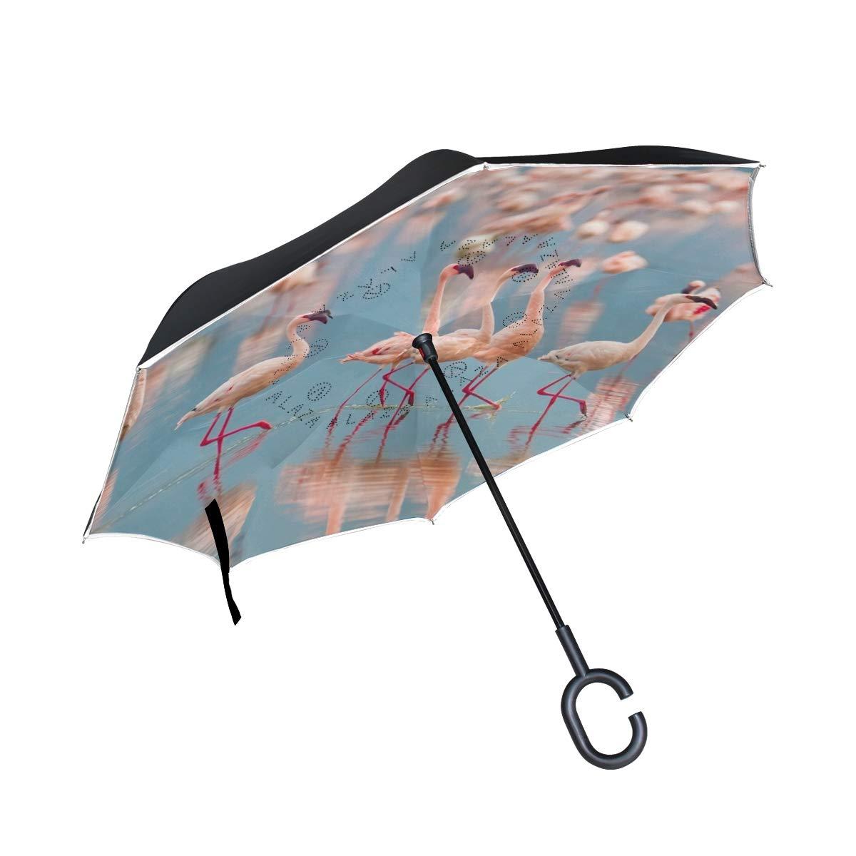 Ladninag 逆傘 パイナップル トロピカルパターン 反転傘 リバーシブル ゴルフ 車 旅行 雨 アウトドア ブラック One Size picture7 B07NQ425JC