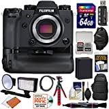 Fujifilm X-H1 Wi-Fi Digital Camera Body & Vertical Power Booster Grip 64GB Card + Battery + Backpack + Tripod + LED Light/Flash + Kit