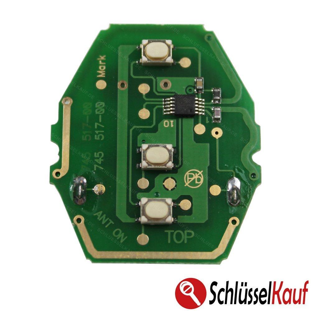 KONIKON Platine Sendeeinheit 434 MHz Autoschl/üssel Fernbedinung Funk Ersatz Neu passend f/ür BMW