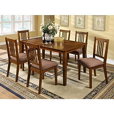 Furniture of America Iovita 7 Piece Dining Set
