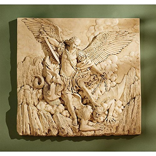 Design Toscano St. Michael, the Archangel Sculptural Wall Frieze