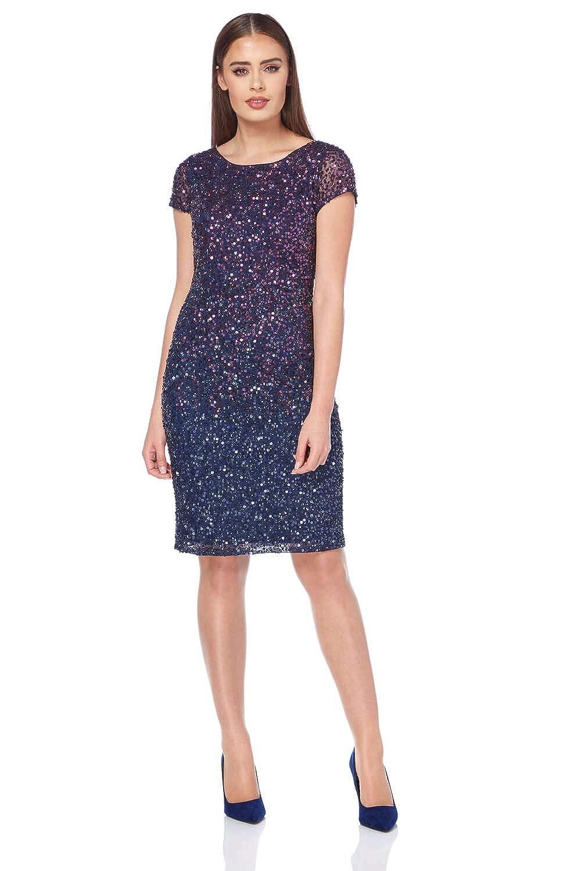 9c8f46c9e65 Roman Originals Women's Ombre All Over Sequin Dress - Ladies Elegant  Sparkle Glitter Shift Pencil Dresses - Purple - Size 20: Amazon.co.uk:  Clothing