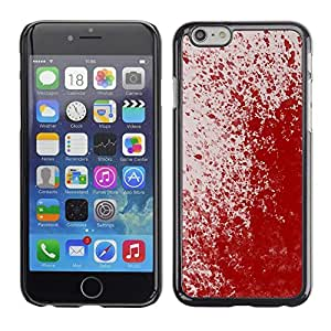 PC/Aluminum Funda Carcasa protectora para Apple Iphone 6 Plus 5.5 Paint Splash Art Modern Random Red Blood / JUSTGO PHONE PROTECTOR