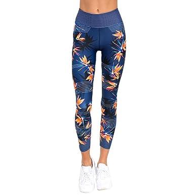 Pantalon de Sport ❤ Femmes Leggings Fitness Yoga Pantalons athlétiques ❤  Pantalon Épissage Femmes Haute Taille 2aa589d8daf