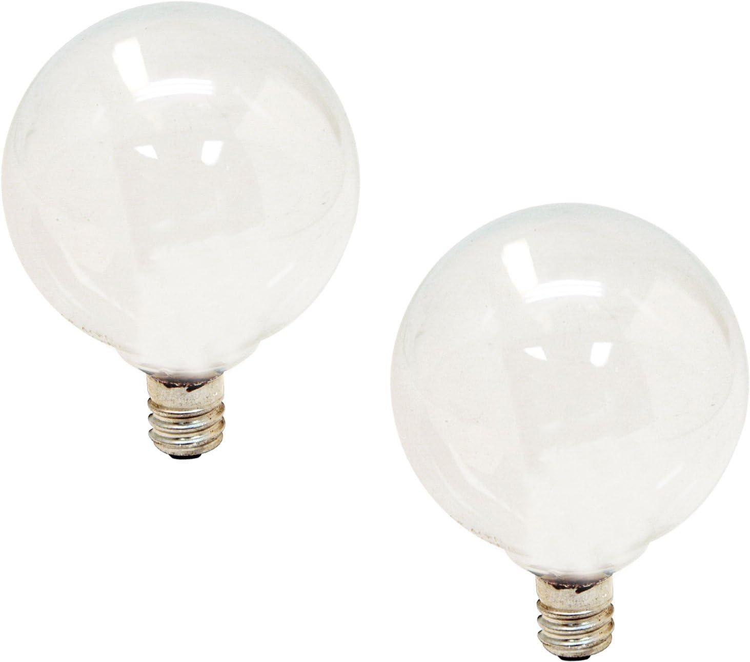 GE Lighting 44414 40-Watt 290-Lumen Decorative G16.5 Light Bulb, Soft White, 2 Count (Pack of 1)