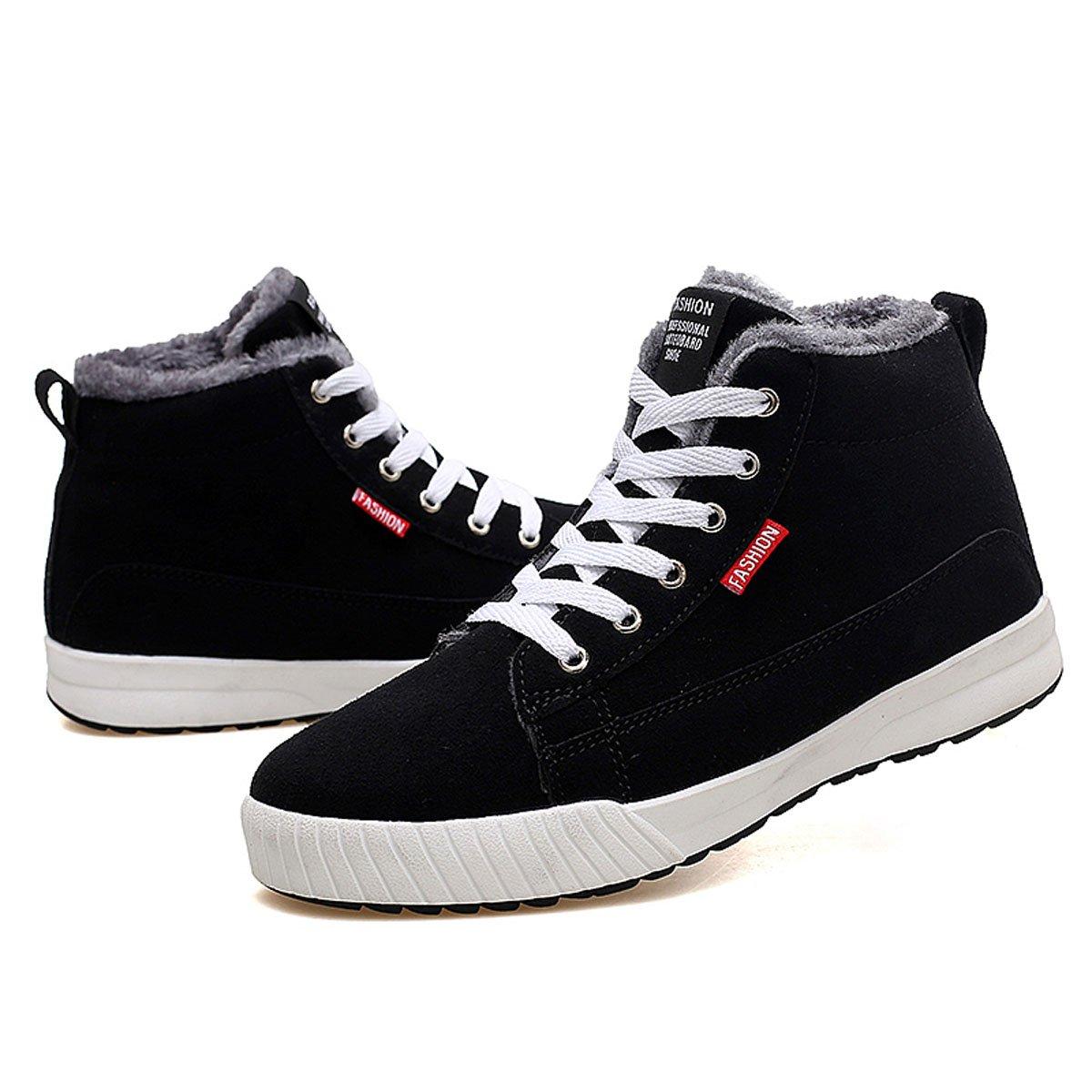 Camfosy Flache Stiefeletten,Winter Kuschelig Warme Sneaker