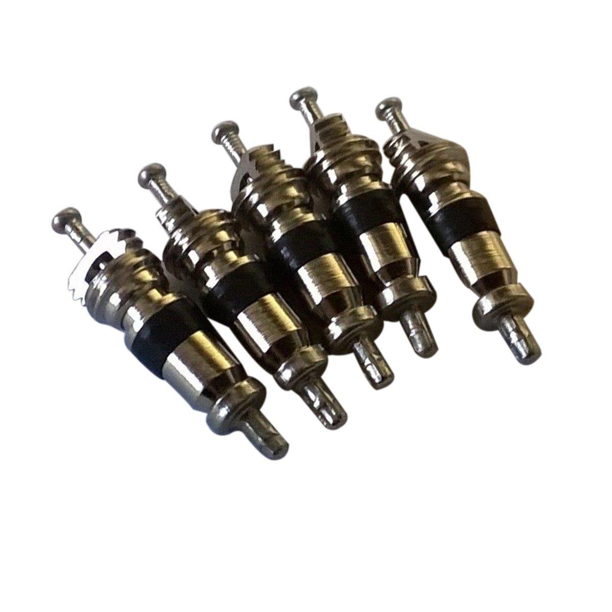 VORCOOL pneumatici Valvola Core Remover rimozione Tool chiave 5/Inserti per auto bici moto auto camion pneumatici moto valvola del pneumatico Stem Nucleo ricambio per notebook