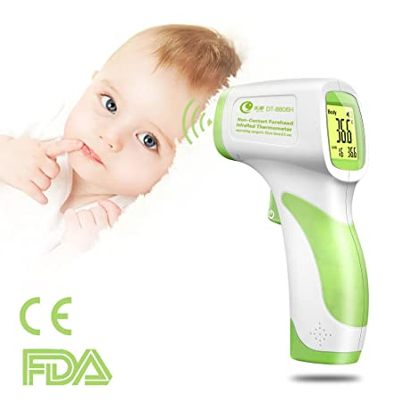 LEYU DT-8806H Baby Thermometer for Fever, Non-Contact Digital Infrared Thermometer for Baby,Kids, Infants, Toddlers, Adults, Objects and Ambient