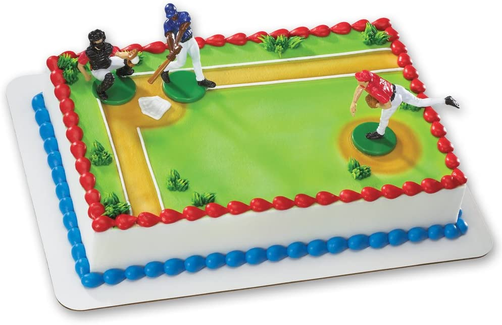 Sensational Amazon Com Baseball Batter Up Decoset Cake Decoration Toys Games Funny Birthday Cards Online Fluifree Goldxyz