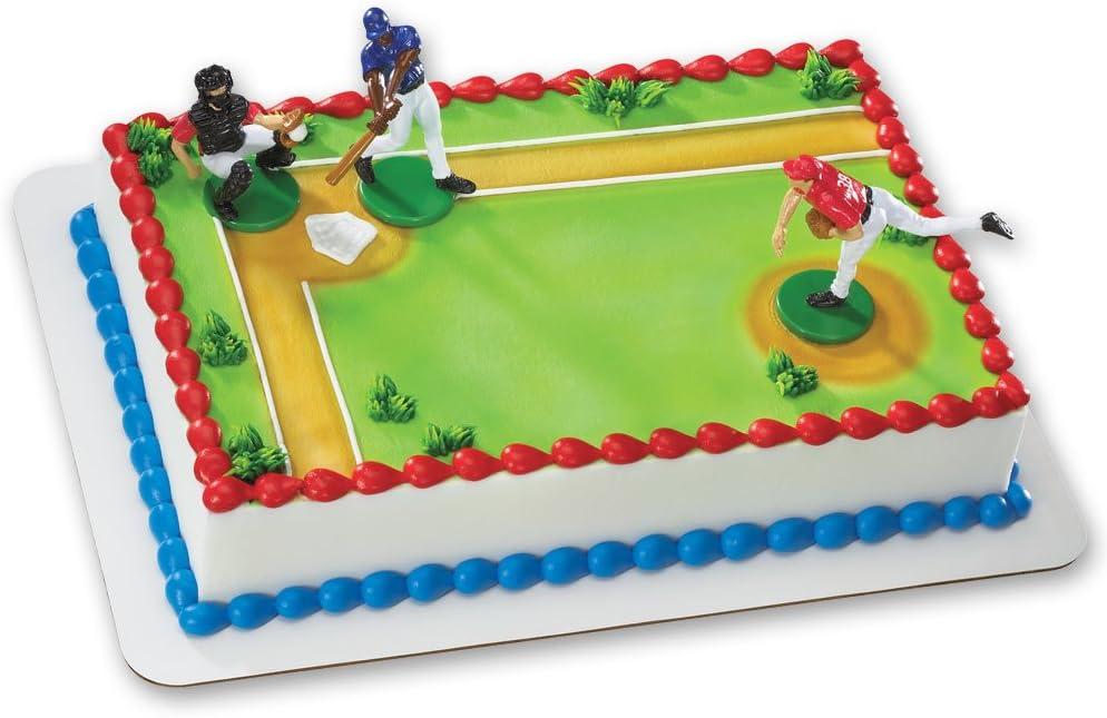 Wondrous Amazon Com Baseball Batter Up Decoset Cake Decoration Toys Games Birthday Cards Printable Inklcafe Filternl