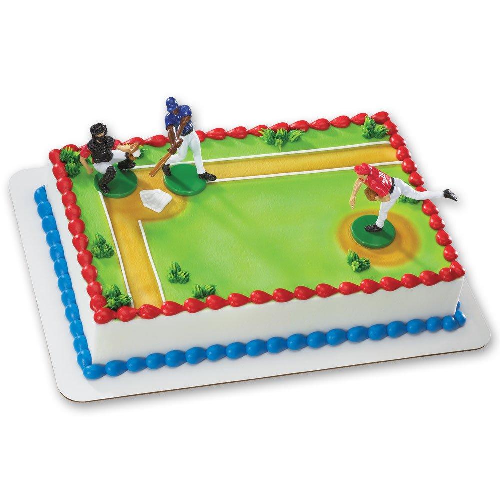 1/4 Sheet - Baseball Field Birthday - Edible Cake/Cupcake ...
