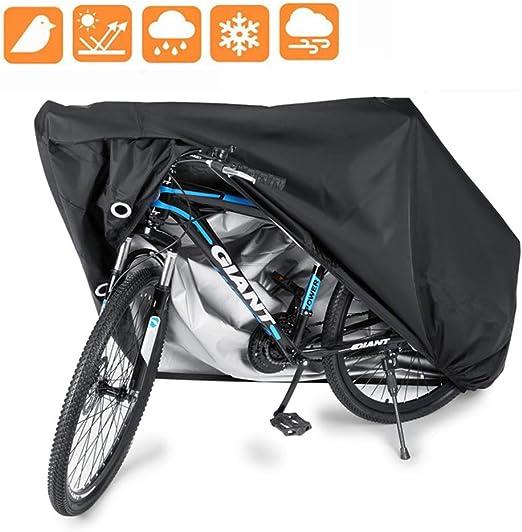 AZUO Funda para Bicicletas 190T Cubierta Impermeable Funda de Protección Bicicleta Bici de Tafetán Resistente Proteger Bici del Sol Lluvia Polvo Anti UV para Bicicleta Motocicleta,S: Amazon.es: Hogar