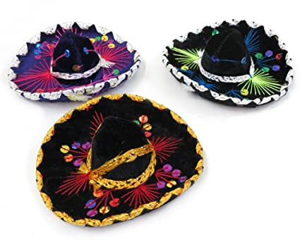 """SOMBRERO GOLD DETAIL COSTUME CHARRO YOUTH MEXICAN MARIACHI HAT 19/"""""""