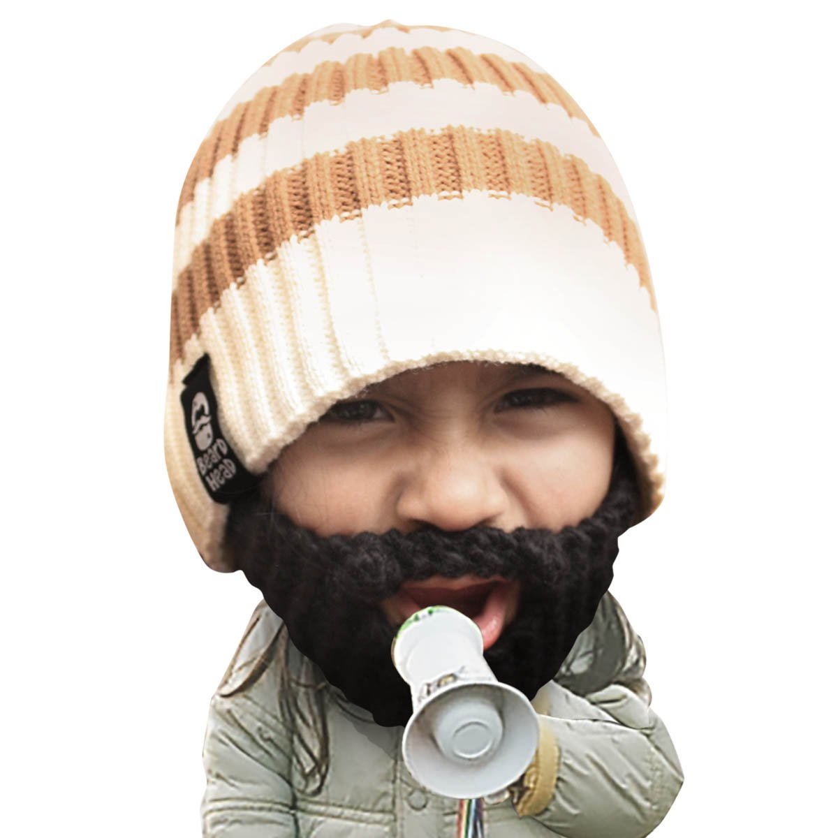 Amazon.com  Beard Head Kid Scruggler Beard Beanie -Knit Hat and Fake Beard  for Kids Toddlers Black  Infant And Toddler Hats  Clothing 5e772d3756f