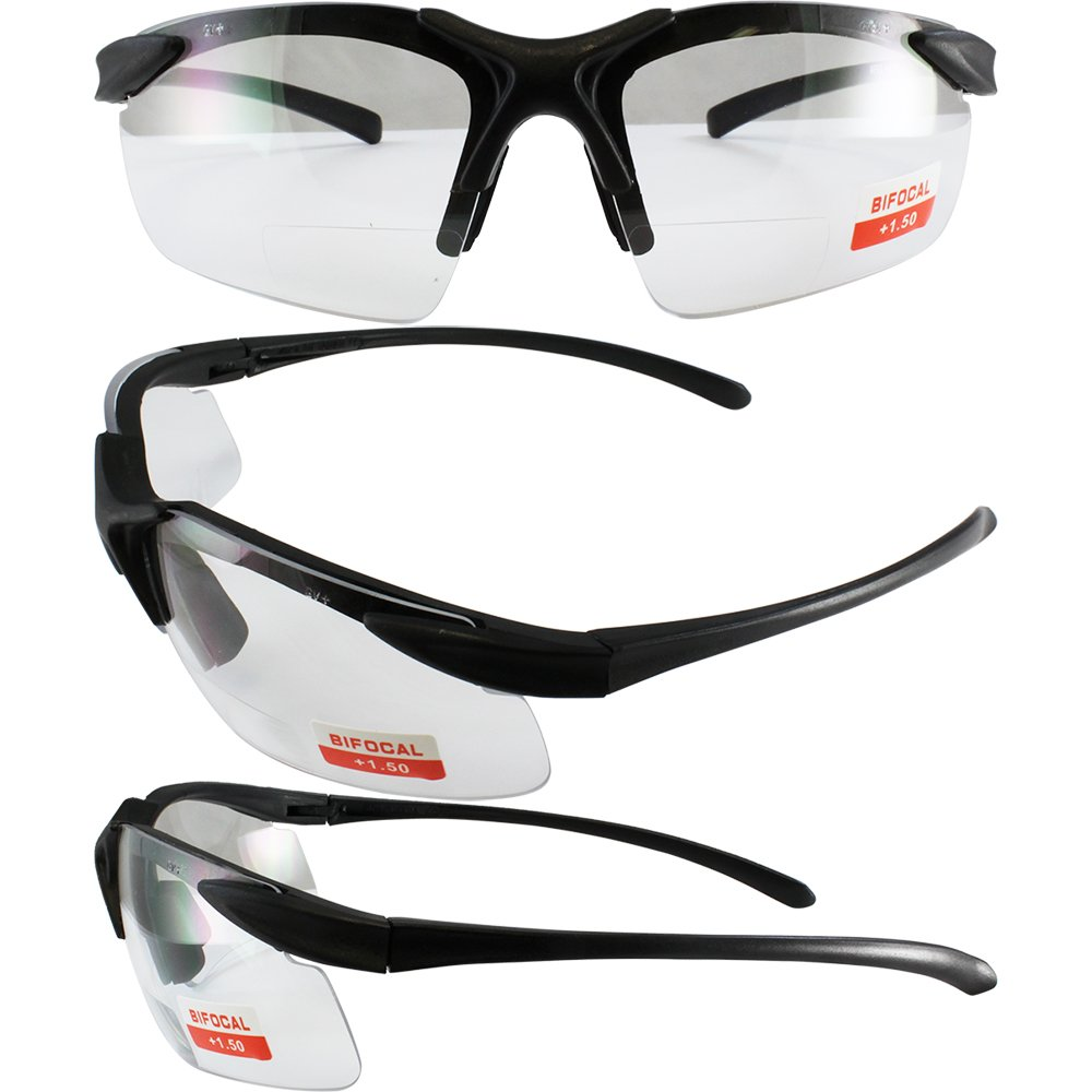 Apex clear bifocal safety glasses 1.5 power by Cglasses (Image #4)