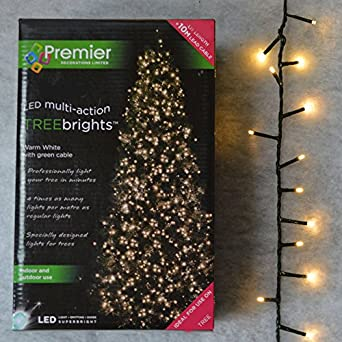 1,500 LED (37.5m) Premier TreeBrights Cluster Christmas Tree ...