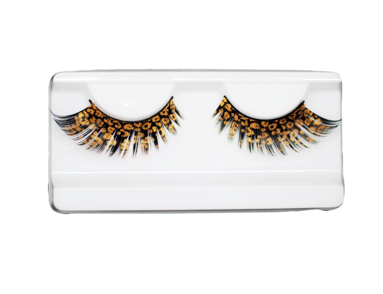 EMILYSTORES Catwoman Leopard Party Looking Eyelashes Painting Lashes 1 Pairs Golden Color