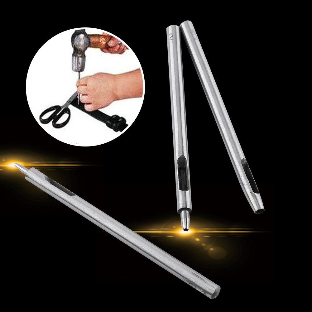 10/pcs creux rond Punch Ensemble de trou Cuir Puncher DIY Outil Joint perforation de ceinture en cuir