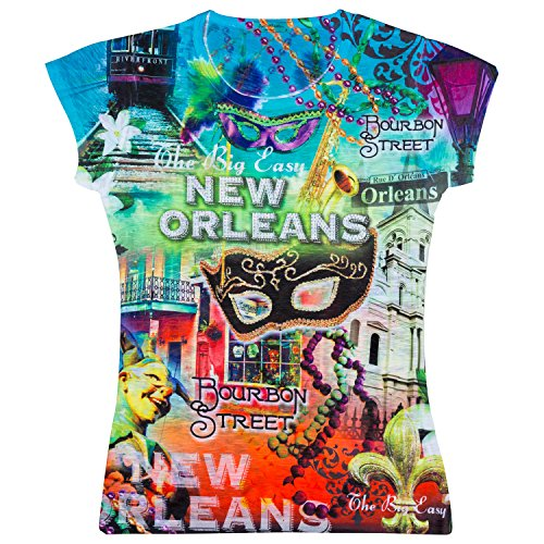 Sweet Gisele Womens New Orleans Graphic T-shirt (XXL)