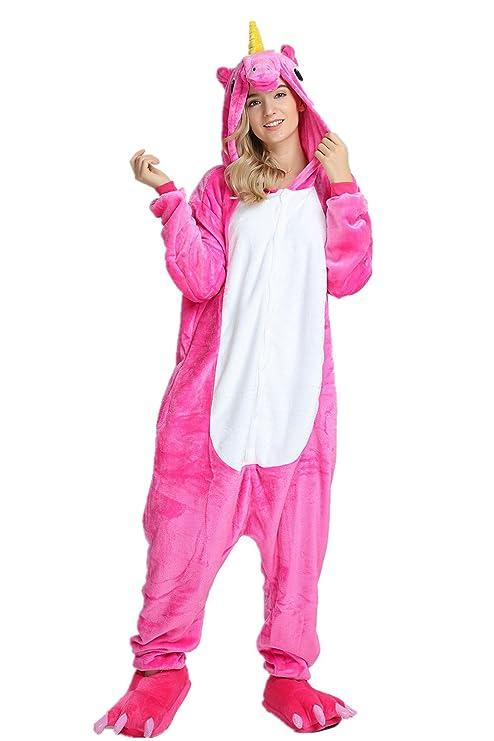 KiKa Monkey Unisex Unicornio Adulto Ropa de Hombre Animal Pijamas Traje de Cosplay Pijamas de Navidad (Rosa, S): Amazon.es: Juguetes y juegos