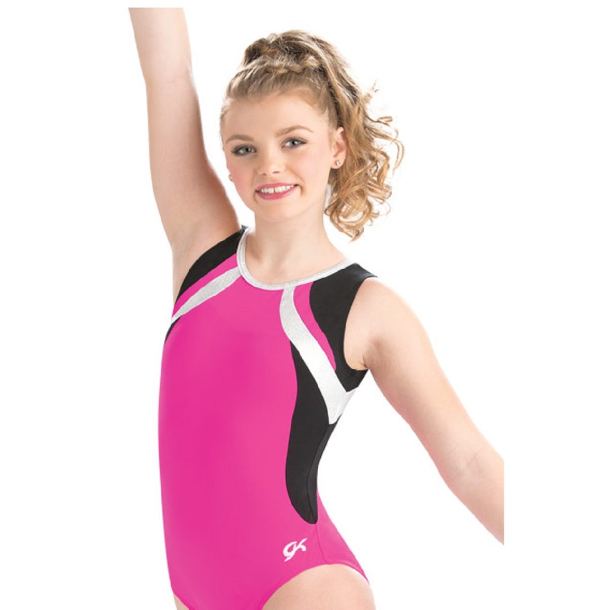 GK Elite Cerise Curve Leotard Child Medium CM by GK Elite