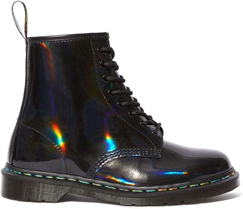 Dr. Martens Jadon Femmes Rainbow Noir Hi Bottes UK 5: Amazon