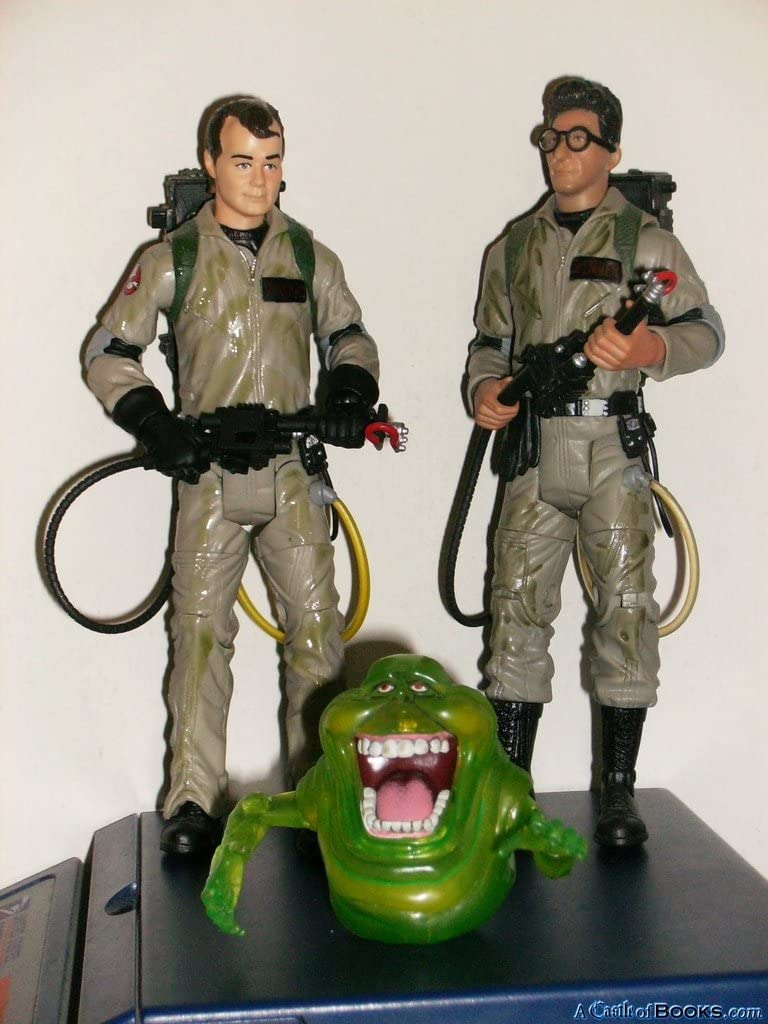 """GHOSTBUSTERS UK CONVENTION EXCLUSIVE 3/"""" VINYL ACTION FIGURES FULL SET BRAND NEW"""