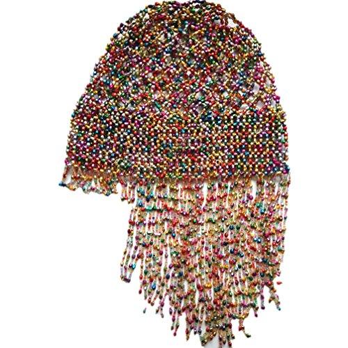 Demon Baby 2018 New Handmade Beaded Colorful Hat Pub/DJ Hair Accessory Egyptian Cleopatra Belly Dance Beaded Cap Wig Headpiece