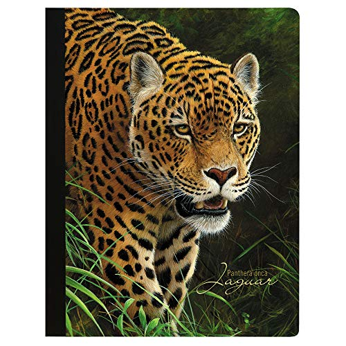 Tree-Free Greetings Classic Collection Jaguar Soft Cover 140 Page  College Ruled Notebook, 9.75 x 7.25 Inches (CJ47303)