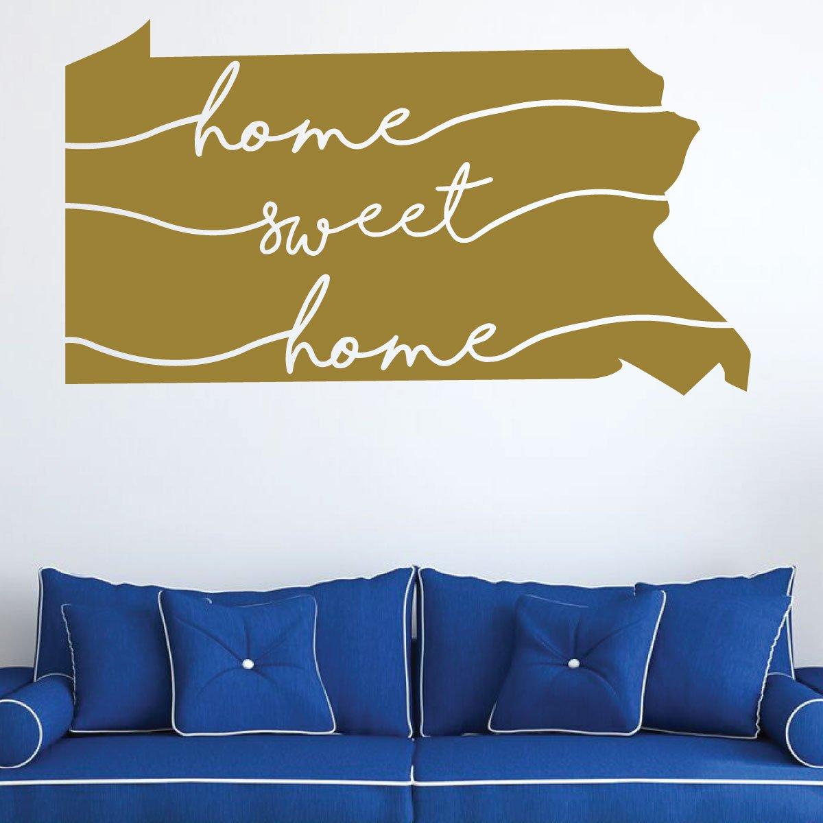 Amazon.com: Pennsylvania Wall Decal - Home Sweet Home - State ...