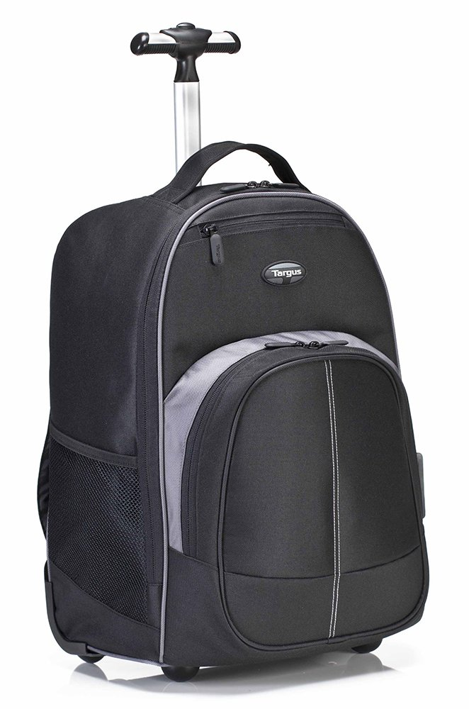 Targus TSB750US Compact Rolling Backpack for Laptops up to 16-Inch/MacBook Pros up to 17-Inch, Black (TSB750US)