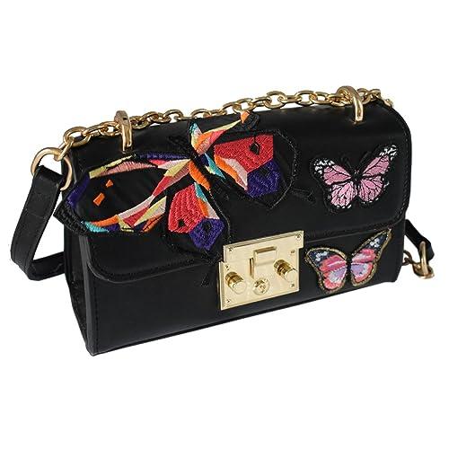 7c864340c323 MUSAA Unique PU Leather Crossbody Bags Chain Strap Satchel Handbags ...