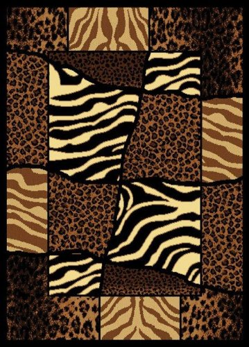"""United Weavers of America Legends Collection African Montage Rug, 5'3"""" by 7'2"""" from United Weavers of America"""