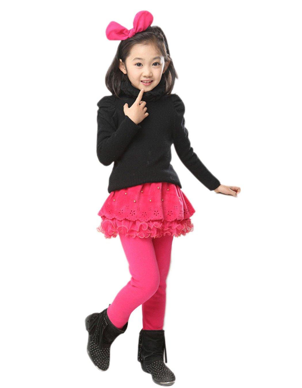 Arshiner Girls Tutu Winter Warm Cotton Leggings Culottes Skirt Pants AS001688