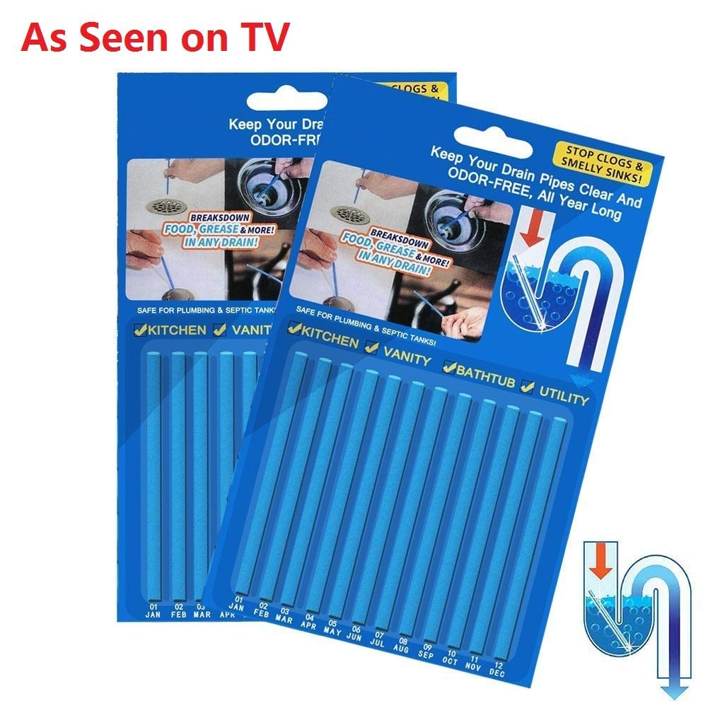 Garbage Disposal Cleaner Drain Sticks Drain Cleaner Sticks Keeps Drains Sinks Clear No Odors As Seen on TV(24pack) (Cleaner-44)