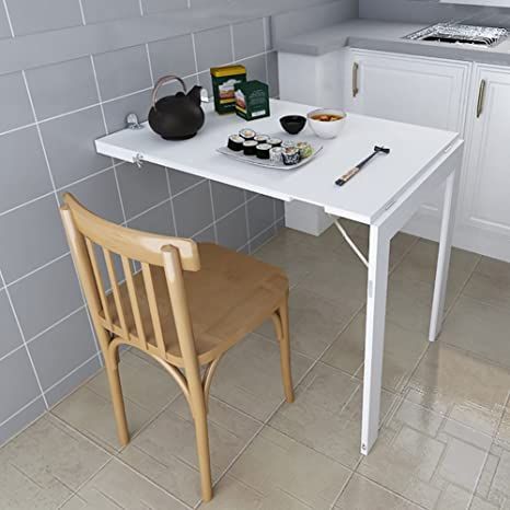 Amazon.com: wssf- pared mesa plegable mesa de comedor ...
