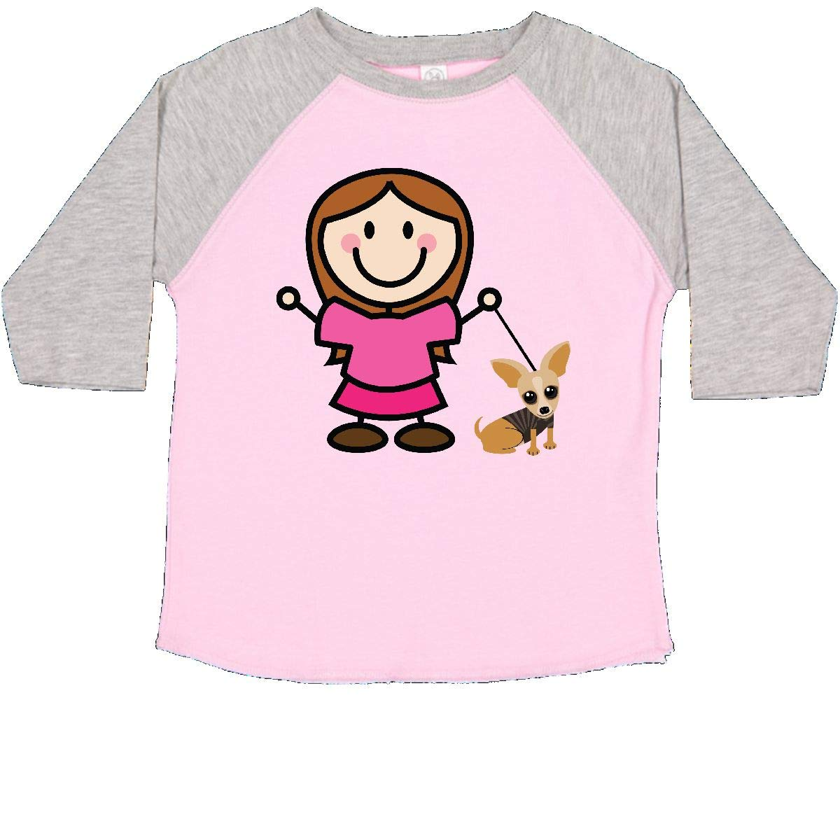 inktastic Chihuahua and Stick Girl Toddler T-Shirt